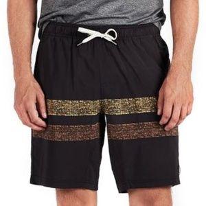 Vuori Men's Kore Shorts Black Saffron BNWT - Large